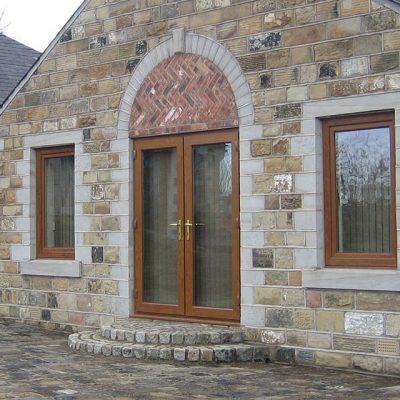 Golden Oak effect uPVC French Door Installation