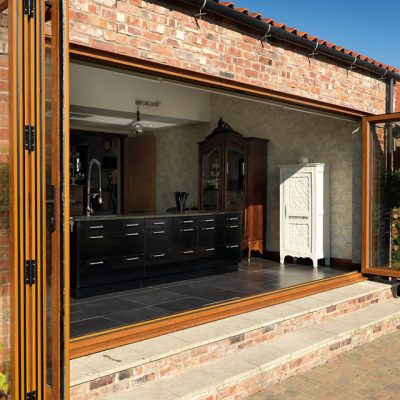 Oak Effect Bifold Doors