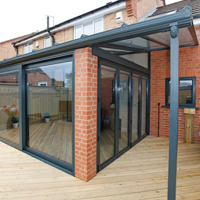 Grey Bifolds with Sliding Doors