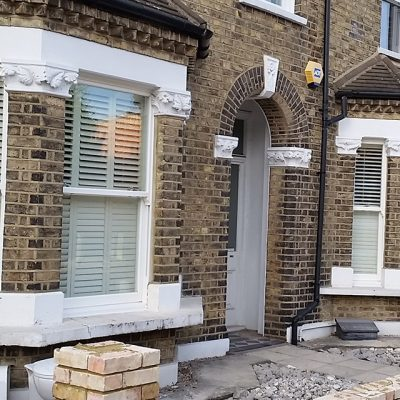 White Sash Bay Windows