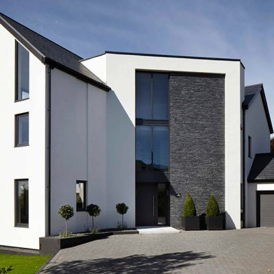 Black aluminium casement windows