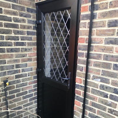 Black uPVC Back door