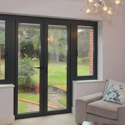 Black uPVC French Door Installation