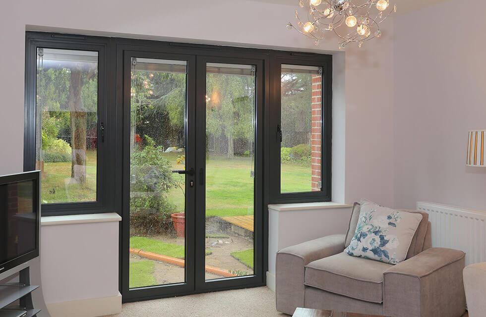 French doors double glazed doors godstone surrey free for Installing upvc french doors
