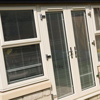 French doors double glazed doors godstone surrey free for Cream french doors