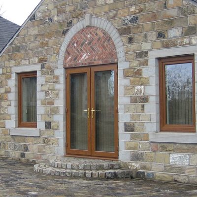 Golden Oak effect uPVC French Door Installation