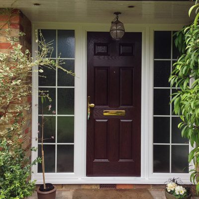Rosewood composite entrance door