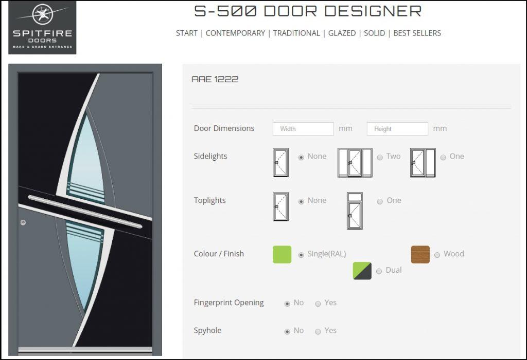 Spitfire door designer example