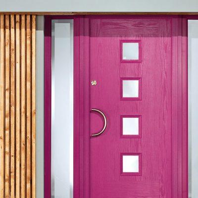 pink composite door