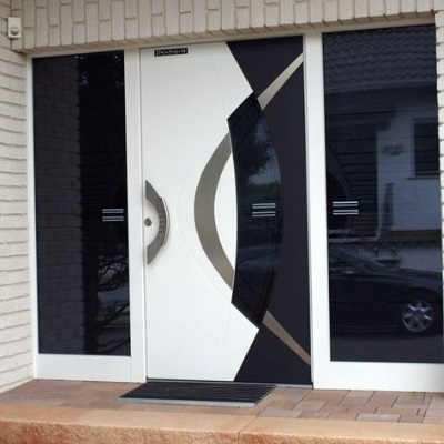 Now you can design your own high tech front door tft r for Design your own front door