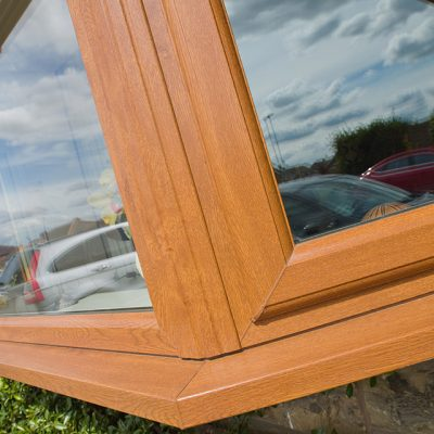Oak Effect uPVC Casement Windows